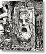 Old Statues In Skopje Metal Print