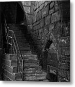 Old Steps In Chester England Metal Print