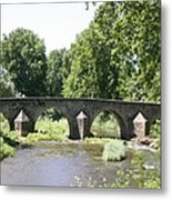 Old Stone Arch Bridge Metal Print