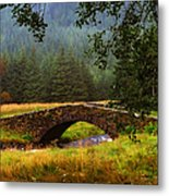 Old Stone Bridge Over Kinglas River. Scotland Metal Print