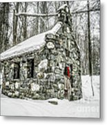Old Stone Chapel Stowe Vermont Metal Print