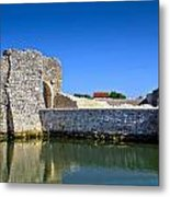 Old Stone Walls Of Nin Town Metal Print