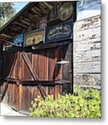 Old Storage Shed At The Swiss Hotel Sonoma California 5d24459 Metal Print