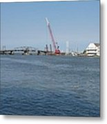 Old Swing Bridge Chincoteague Metal Print