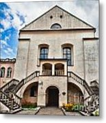 Old Synagogue Izaaka In Kazimierz District Of Krakow Poland Metal Print