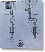 Old Tattoo Gun Patent Metal Print