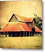 Old Texas Barn Metal Print by Julie Hamilton