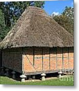 Old Thatched Barn Britain Metal Print