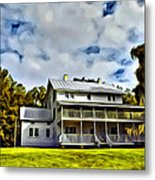 Old Thursby Plantation House Two Metal Print