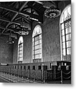 Old Ticket Counter At Los Angeles Union Station Metal Print