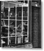 Old Time Barber Shop Metal Print