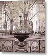 Old Time Fountain Metal Print