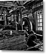 Old Time Gears Metal Print