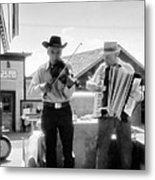 Old Time Musicians Bw Metal Print