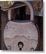 Old Time Padlock Metal Print