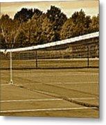 Old Time Tennis Metal Print