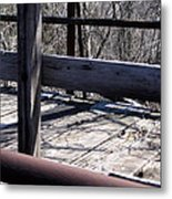 Old Timey Foot Bridge Metal Print