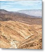 Old Toll Road Landscape In Death Valley Metal Print