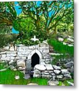Old Tomb In The Countryside Ireland Metal Print