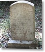 Old Tombstone  Metal Print