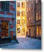 Old Town Alley Metal Print