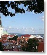 Old Town And Harbor - Tallinn Metal Print