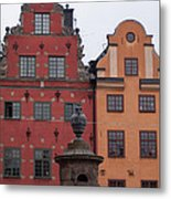 Old Town Architecture Metal Print