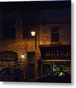 Old Town At Night Metal Print