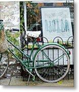 Old Town Bike Stop Metal Print