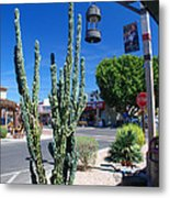 Old Town Cactus Metal Print