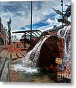 Old Town Fountain Metal Print by JulieannaD Photography