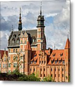 Old Town Of Gdansk In Poland Metal Print