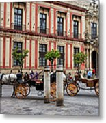 Old Town Of Seville In Spain Metal Print