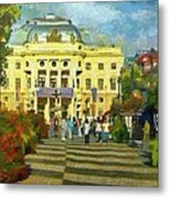 Old Town Square Metal Print