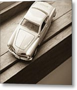 Old Toy Car On The Window Sill Metal Print