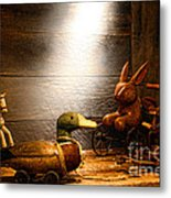 Old Toys In The Attic Metal Print by Olivier Le Queinec