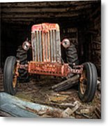 Old Tractor Face Metal Print by Gary Heller