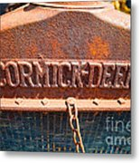 Old Tractor Grille Metal Print