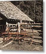 Old Vintage Antique Tractor In Appalachia Metal Print