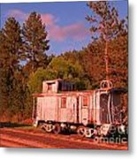 Old Train Caboose Metal Print