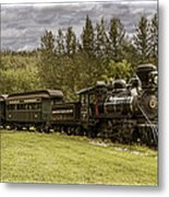 Old Train Steam Engine At The Fort Edmonton Park Metal Print
