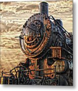 Old Train Still In Light Metal Print