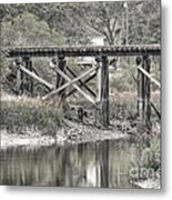 Old Train Trestle Metal Print