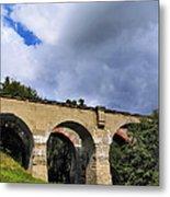 Old Train Viaduct In Poland Metal Print