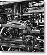 Old Train Wheel Metal Print