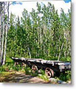 Old Tramway In Canyon City  Miles Canyon Trail Near Whitehorse-yk Metal Print