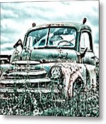 Old Truck - Cool Glaze Metal Print