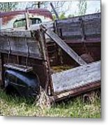 Old Truck With Moss Metal Print