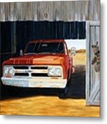 Old Trucks And Decoys Metal Print