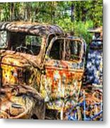 Old Trucks And Old Bicycles Metal Print